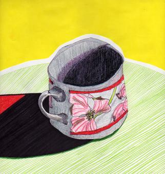 """""""Taza Disfuncional"""" - Dibujo-Plumón, Lápiz de Color, Collage / San Salvador, ES Julio 2010"""
