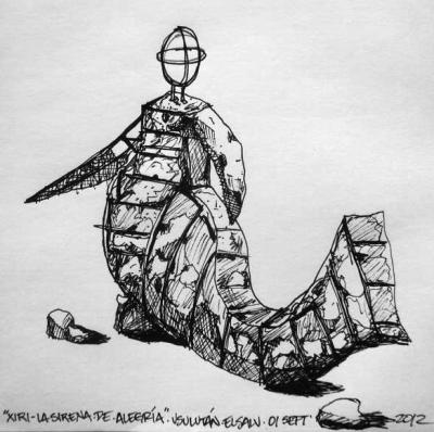 """""""XIRI"""" La Sirena de Alegría / Dibujo Plumón / El Salvador - Septiembre 2012"""