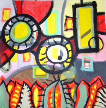 """""""Ojos"""" - Acrílico - El Salvador 2007"""
