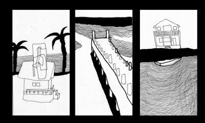 """""""Roatán"""" - Dibujos / plumón sobre papel - Honduras 2004"""