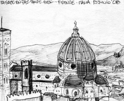 """Firenze"" Lapicero-Dibujo / Firenze, Italia 2008"