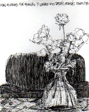 """Flores de Bienal"" - Plumón/Dibujo - Tegucigalpa, Honduras 2008"