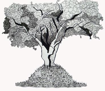 """""""Arbolito muy Querido"""" - Plumón/Dibujo -Mejicanos, El Salvador 2009"""