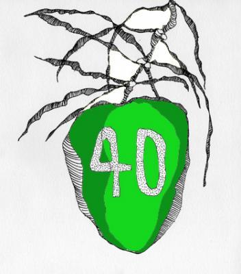 40 Años / Dibujo - Photoshop, El Zonte, ES - Octubre 2010